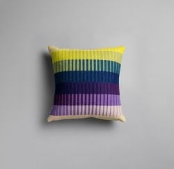 Asmund Gradient Cushion  | Violet-Yellow