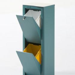 Recycling-Behälter mit zwei Einzelbehältern Cubek | Türkis