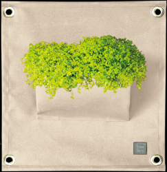 Plant Bag 'Green Pockets' AMMA | Ivory White