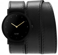Avant Pure Watch Triple | Black & Gold