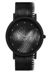 Avant Surface Side with Zip Watch | Black