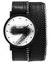 Avant Silent Double Side Zip Watch | Black