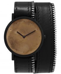 Avant Exposed Double Side Zip Watch | Black