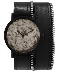 Avant Distinguished Double Side Zip Watch | Black
