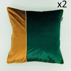 Cushion Chicago Green-Brown 45 x 45 | Set/2