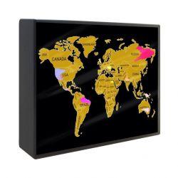 Scratch Map Lightbox | Wereld