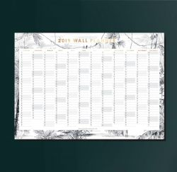 Wall Planner 2019 | Rainforest
