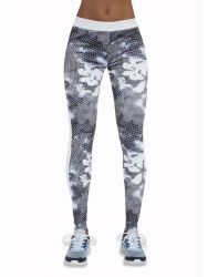 Sport Legging Code | White & Grey