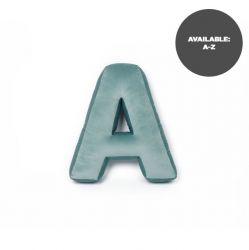 Cushion Letter Velvet Mint | A