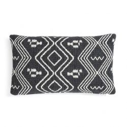 Cushion Aztec | Dark Grey & White