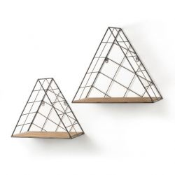 Etagère Murale Triangle Anthracite | Set de 2