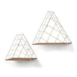 Wandregal-Dreieck weiß | 2er-Satz