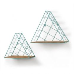 Wandregal Triangle Bleu | 2er Set