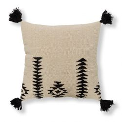 Cushion Cover Aztec with Pompons