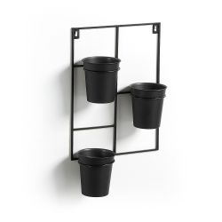 Wall Planter 3 Pots Hayworth | Black