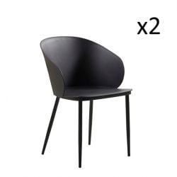 Chairs Dalis Set of 2 | Black