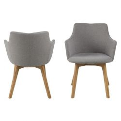 Chaise Anna | Set de 2 | Gris Clair