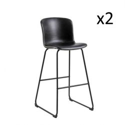 Bar Stool Tale Set of 2 | Black