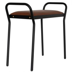 Tabouret Anyone | Noir + Cognac