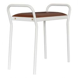 Stool Anyone | White + Cognac