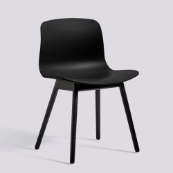 About A Chair AAC12 | Black Stained Solid Oak & Black