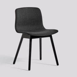 About A Chair AAC12 | Black Stained Solid Oak & Black Front Upholstery
