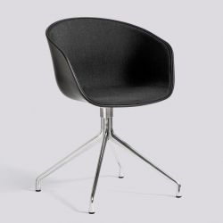 About A Chair AAC20 | Polished Aluminium & Black / Remix 183 Front Upholstery