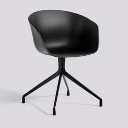 About A Chair AAC20 | Black Powder Coated Aluminium & Black
