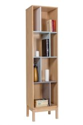 Abbey Wood 14 Narrow Bookcase