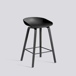 About a Stool Low | Black Stained Oak Veneer
