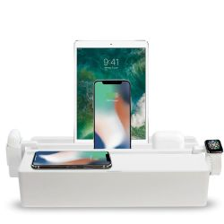 Qi-Wireless Ladestation + Zubehörsatz Apple Classic Family | Weiß