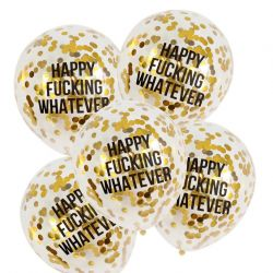 Abusive Confetti Balloons Set of 5