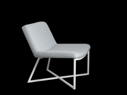Armchair Zero | Light Blue & Black Legs