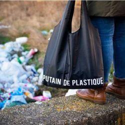 Wiederverwendbare Einkaufstasche Putain de Plastique