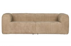 3.5-Sitzer Sofa Bean Schwer Ribcord | Travertin