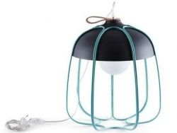 Tull Table Lamp | Anthracite/Turquoise