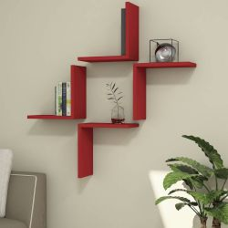 Shelf Alfa Set of 4 | Red