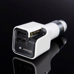 Ionic Car Air Purifier + Car Charger AIR | White