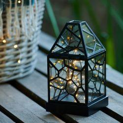 Laterne Alfred 20 LED H 25 cm | Schwarz