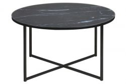 Coffee Table Ali Ø 80 | Black Marble