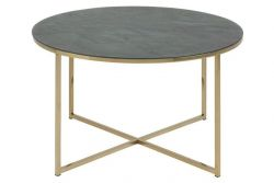 Coffee Table Alma Ø 80 | Green Marble