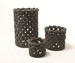 Grey Wool Lanterns