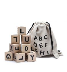 Alphabet Blocks Set of 10 | Black