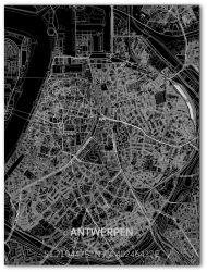 Metall-Wanddekoration | Stadtplan | Antwerp