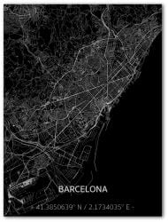 Metal Wall Decoration | City Map | Barcelona