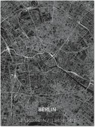 Metall-Wanddekoration | Stadtplan | Berlin