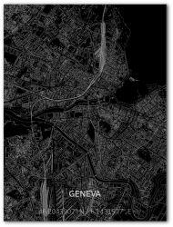 Metalen Wanddecoratie | Stadsplattegrond | Geneve