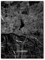 Metal Wall Decoration | City Map | Hamburg