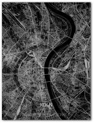 Metall-Wanddekoration | Stadtplan | Köln