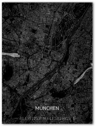 Metal Wall Decoration | City Map | München